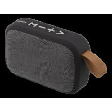 STREETZ Portable Bluetooth Speaker, Compact, Bluetooth 4.2, USB / TF / AUX / FM / Speakerphone, Black