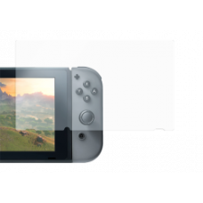 DELTACO GAMING screen protector for Nintendo Switch, 9H glass, scratch resistant, crystal clear, 0,33mm thin, includes wipe cloth