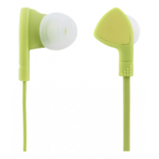 STREETZ in-ear headset, answer button, 3.5mm connector, microphone, 1.2m cable, lime green