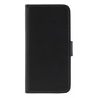 Wallet case in artificial leather with magnetic shell for iPhone X, black
