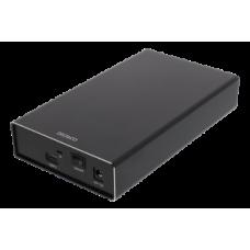 DELTACO External 3,5 Harddrive Enclosure, USB-C, USB 3.1 Gen2, 10 Gbps, black