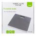 NORDIC HOME CULTURE Personal weight scale in tempered glass, silicone slip protection, max 150kg, large display, gray