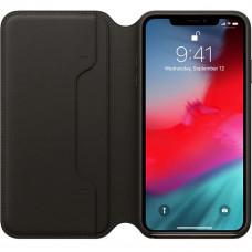Apple iPhone X Leather Folio Original - Black